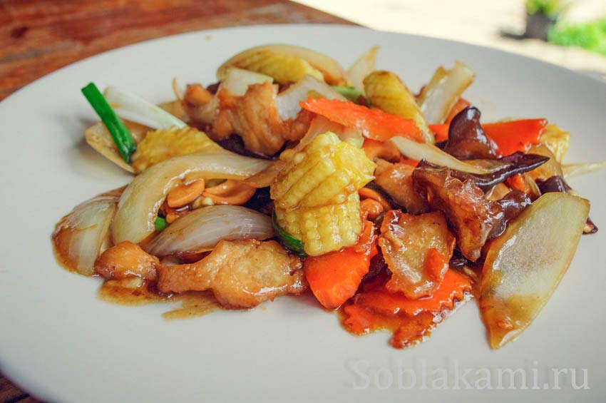 Курица с кешью по-тайски: пошаговый рецепт с фото