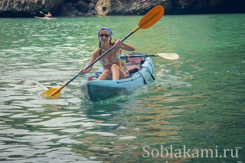 Чем заняться с ребенком в Ао Нанге: на каяке по островкам