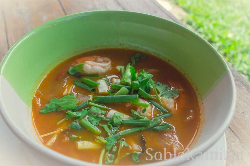 Тайский суп Том Ям Кунг: пошаговый рецепт с фото